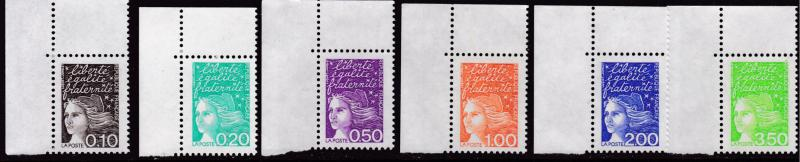 France 1997 Scott 2589//2601 Marianne to the 6.70 value 11 Stamps VF/NH