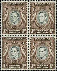Kenya, Uganda & Tanzania Scott #66 SG #131 Block of 4 Mint Never Hinged