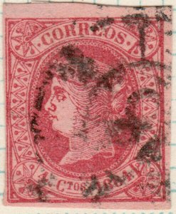 ESPAGNE / ESPAÑA / SPAIN - Ed.64 1864 4cu usado muy bonito - (637zb)