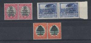 Kenya Uganda and Tanganyika 1942 O/P Set Of 3 MH JK421