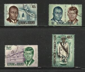 Burundi 1966 In Memoriam Issue Complete Scott# B23 to B26 Us