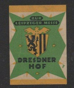Germany Leipzig Fair, Desdener Hof Advertising Stamp MH OG