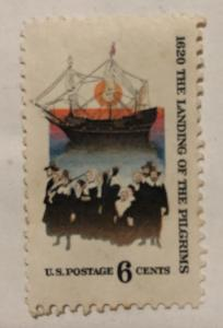 1620 the landing of the pilgrims u.s. postage 6 cents