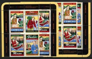 Canada #1753a Mint MS Imprint Blocks VF-NH 1998 Legendary Canadians