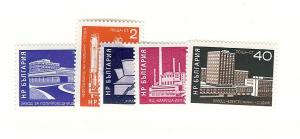 Bulgaria, 1984-88, Industrial Buildings Singles, MNH