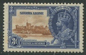 STAMP STATION PERTH Sierra Leone #167 Silver Jubilee 1935 MH