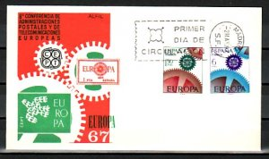 Spain, Scott cat. 1465-1466. Europa issue. First day cover. ^