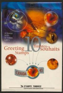 Canada 1508a Booklet BK166a MNH Greetings