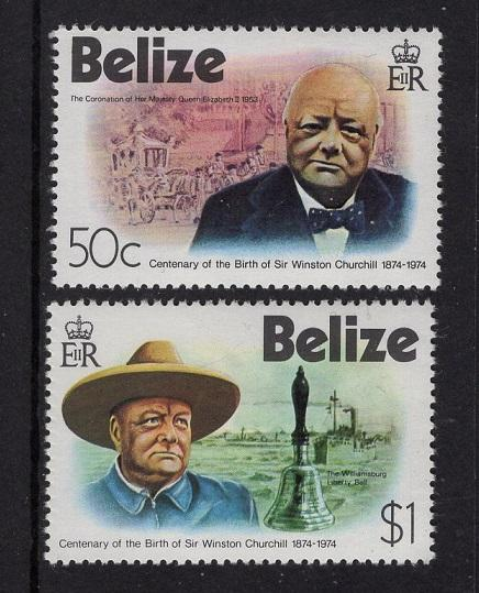 Belize 1974  MNH   #363-364    Churchill