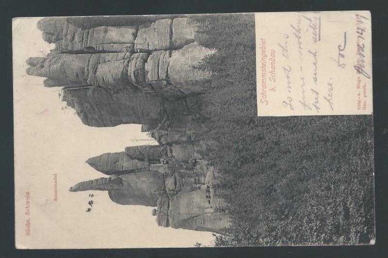 GERMANY 1909 GERMANIA POSTAGE DUE POSTCARD TO USA