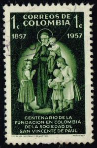 Colombia #678 St. Vincent de Paul and Children; Used (0.25)