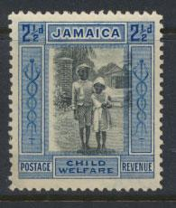 Jamaica  SG 107c  - Mint Hinged  significant image shift  see scan and details
