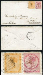 PRINCE EDWARD Is SG12 2d rose and SG21 1d yellow-orange Compound Perf on cover