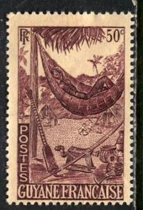 French Guiana 1947: Sc. # 194; */MH Single Stamp