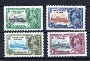 Turks & Caicos 1935 Silver Jubilee mint set #187-190 WS14642