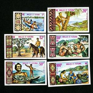 Wallis Et Futuna Stamps # 1711 + C31-5 VF Imperf OG NH