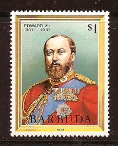 Barbuda  #  622  Mint  N H.       A