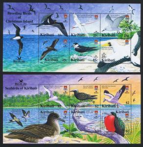 Kiribati Seabirds and Breeding Birds 2 MSs SG#MS741 SC#869-870