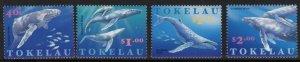 TOKELAU ISLANDS SG259/62 1997 WHALES MNH