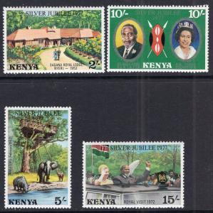 Kenya 84-87 Queen Elizabeth II Silver Jubilee MNH VF