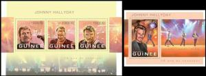 Guinea 2013 Johnny Halliday famous persons klb+s/s MNH