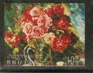 Bhutan 1970 Flower Sc 114C Rousseau, Degas, Gaugin Monet Redon Van Gogh Reoir...