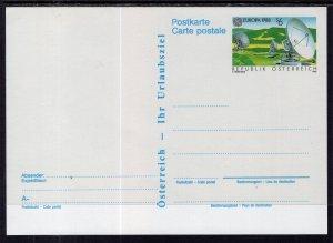 Austria MI P491 Postal Card Unused VF