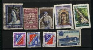 Dominican Republic  9 different used PD