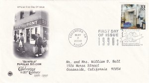 2000, Seinfeld Popular Sit-Com-1990's, PCS, FDC (E11337)