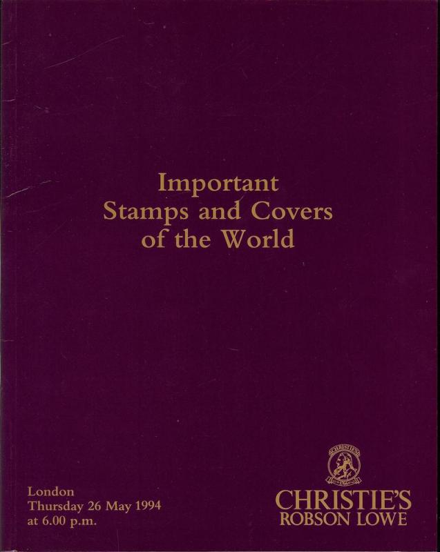 Important Stamps and Covers of the World, Christie's Robs...