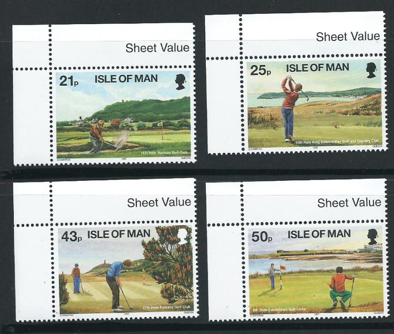 Isle of Man MUH SG 755 - 758 Margin corner copy
