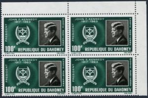 Dahomey C30 block/4,MNH.Michel 265. President John F.Kennedy.1965.
