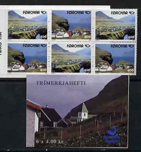 Booklet - Faroe Islands 1993 Postal Co-operation 24k book...