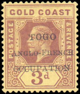 Togo #84, Incomplete Set, 1916, Hinged