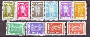 J22379 Jlstamps 1964 panama set mlh #ra52-61 scouts