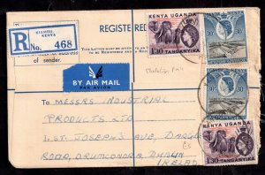 British KUT QEII 1957 Registered Postal History Cover to Dublin WS14920