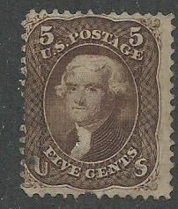 1863 United States Scott Catalog Number 76 Used