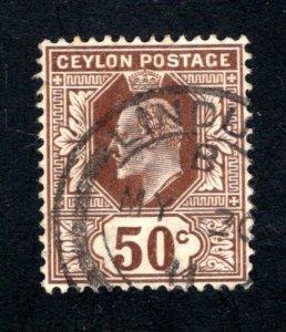 Ceylon #189,  F/VF, Used, CV $7.75 ....  1290155
