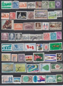 LOT OF DIFFERENT STAMPS OF THE WORLD USED (54) LOT#119