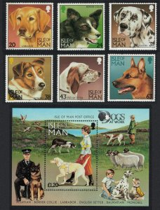 Isle of Man Dogs 6v+MS SG#719-MS725 SC#716-721