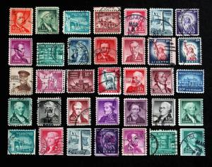 US Stamp Sc# 1030-1053 & 1054-1059A  + 1214 USED Complete Liberty Set 1954-1968