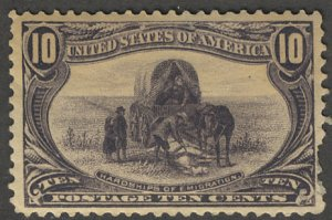 US #290 SCV $135.00 VF mint hinged, 10c Trans-Mississippi, bold color, nice s...