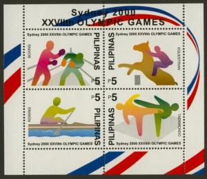 Philippines 2685 MNH Olympic Games, Boxing, Equestrian, Rowing, Taekwondo