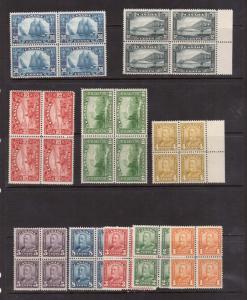 Canada #149 - #158 NH Mint Block Set