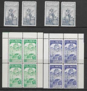 Venezuela 320, C64-5 MNH cpl. set x 4,vf see desc. 2019 CV $480.00