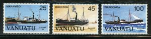 VANUATU SHIPS SCOTT #377/79  MINT NEVER HINGED--SCOTT VALUE $5.50