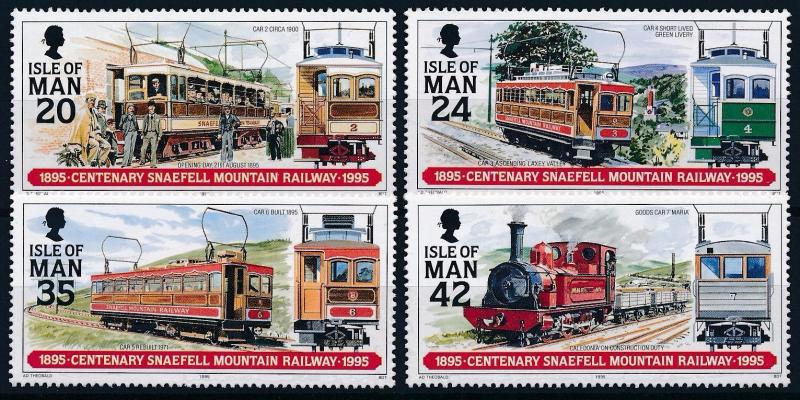 [61373] Isle Of Man 1995 Railway Train Elsenbahn Chemin De Fer  MNH