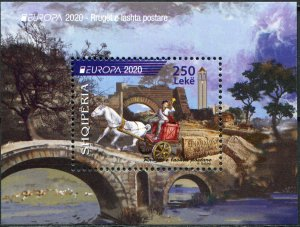Albania 2020. Ancient postal routes (MNH OG) Souvenir Sheet