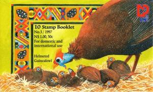Namibia - 1997 Guineafowl Booklet (Original) Cancelled SG SB7