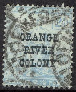 ORANGE RIVER COLONY 1900 CAPE 21/2D OVERPRINTED VARIETY NO STOP USED